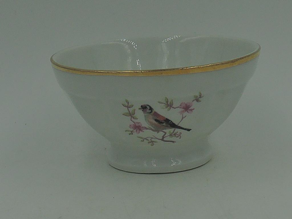 Vintage Petitie Porcelain Limoges Cafe Au Lait Bowl w/Birds