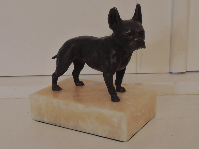 Antique Bronze Bergmann French Bulldog Austrian Vienna Dog Figure