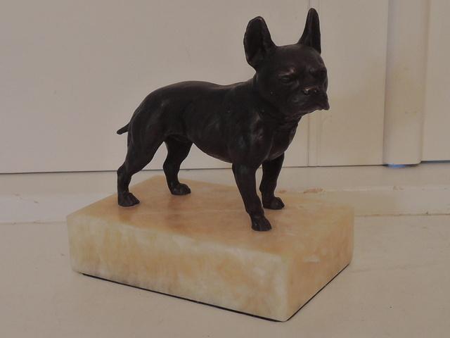 Antique Bronze Bergmann French Bulldog Austrian Vienna Dog Figure