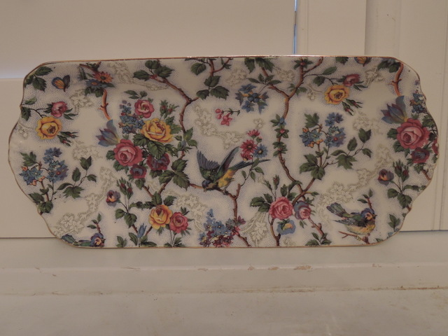 Vintage Royal Tudor Barker Bros Chintz Lorna Doone Tray/Plate Blue Bird
