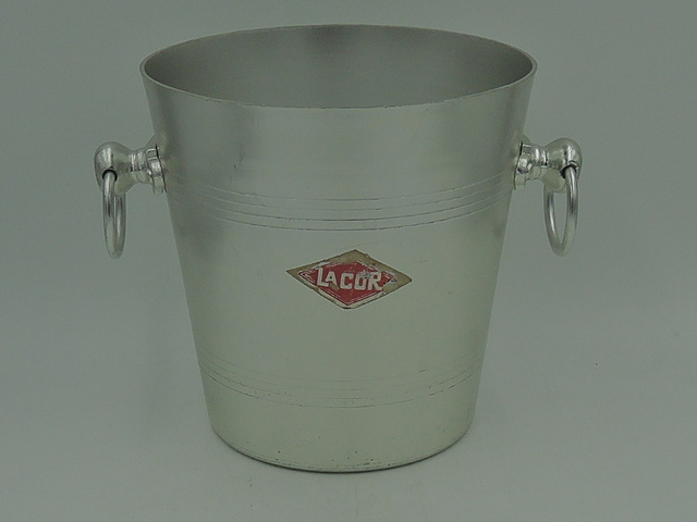 Vintage French Petite Handled Lacor Wine Bucket Metal Pail