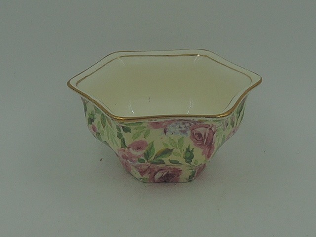 Vintage Royal Winton Chintz June Roses Sugar Cup Bowl Hector