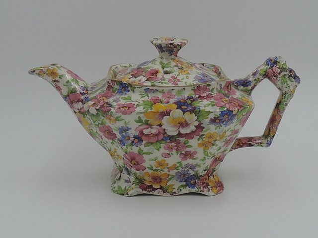 Vintage James Kent Chintz Du Barry Petite Teapot 2 Cup Old Mark