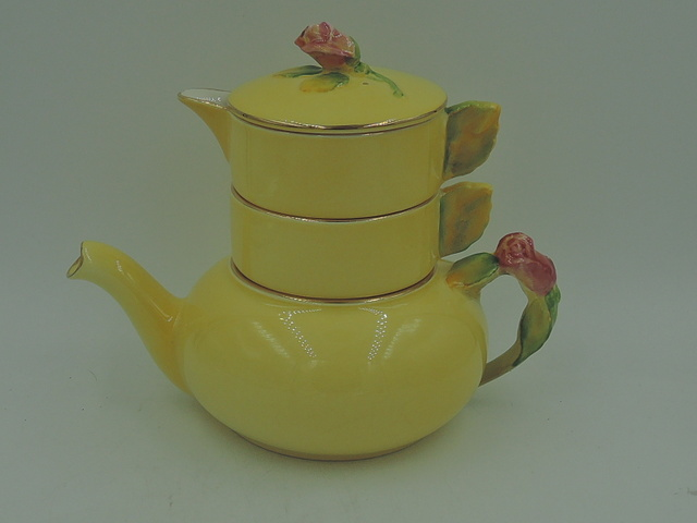 Vintage Royal Winton Yellow Rosebud Stacking Teapot Tea for One