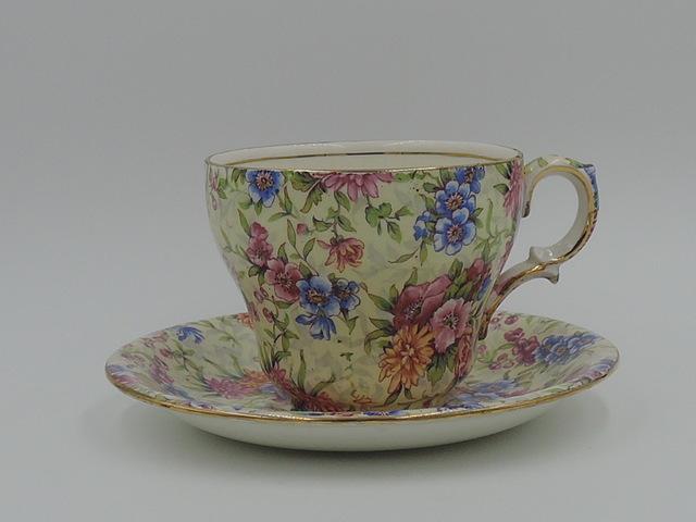 Vintage Royal Winton Chintz Mayfair Cup & Saucer Teacup