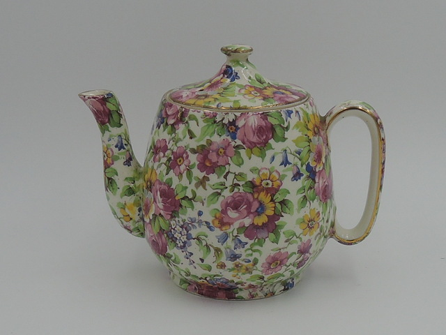 Vintage Royal Winton Chintz Summertime Breakfast Set Teapot Tea for One Countess