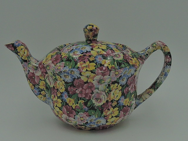 Vintage James Kent Chintz Florita 2 Cup Teapot Old Mark