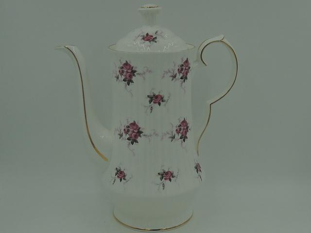 Vintage Hammersley Princess House Teapot Coffee Pot Pink Roses Spode