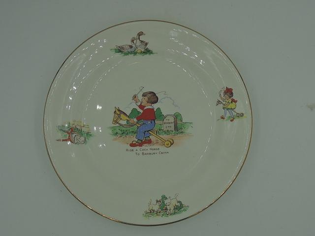 "Vintage Bristol Ride A Cock Horse Nursery Rhyme 7"" Plate"