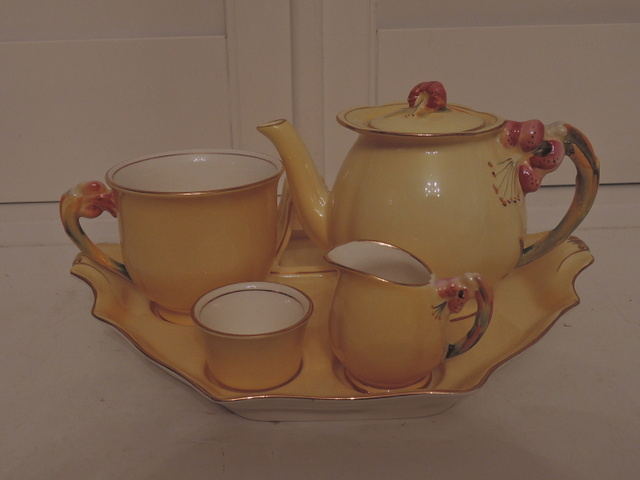 Vintage Royal Winton Yellow Tiger Lily Breakfast Set Tea for One