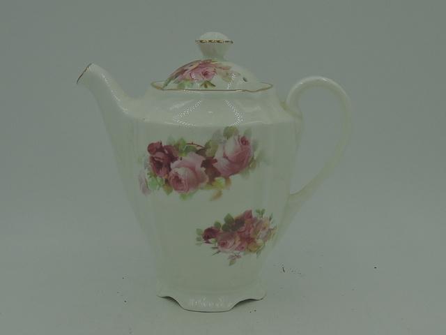 Vintage Royal Doulton Pink Roses Teapot Tea For One