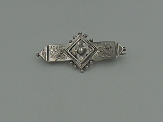 Antique Victorian English Sterling Silver Forget Me Not Brooch Pin