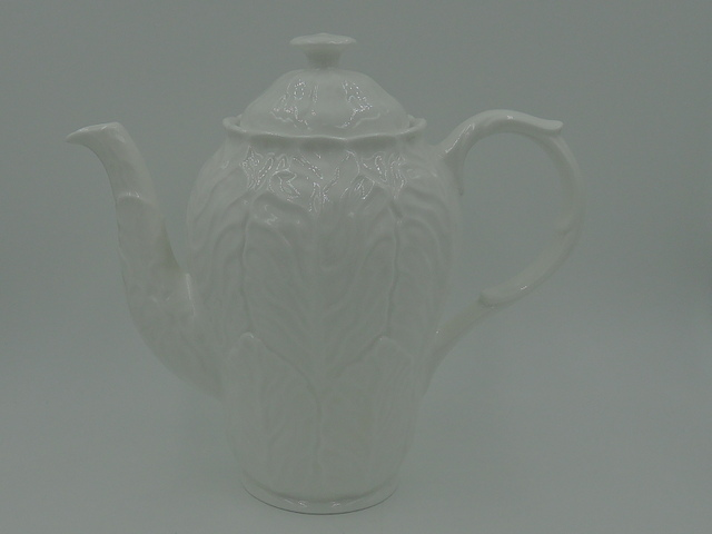 Vintage Wedgwood Countryware White Cabbage Coffee Pot/Teapot 6 Cup Bone China