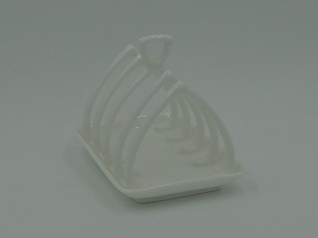 Vintage Coalport Countryware White Toastrack Toast Rack/Server Bone China