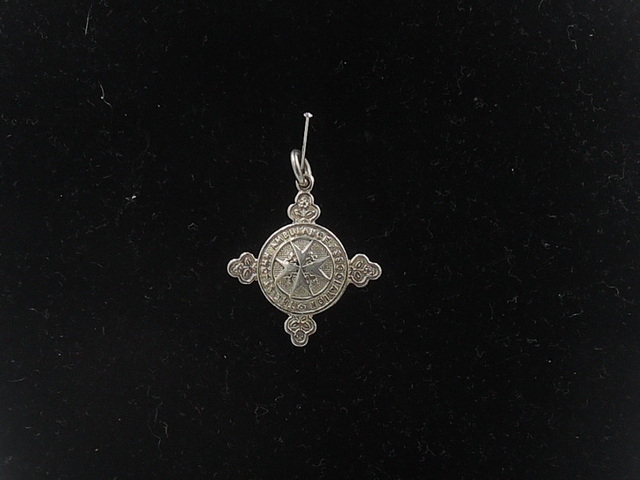 Antique English Sterling Silver Fob Medal Pin St. John's Gate Ambulance Brigade