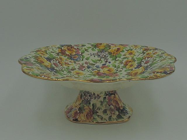 Vintage Royal Winton Chintz Bedale Compote Dish
