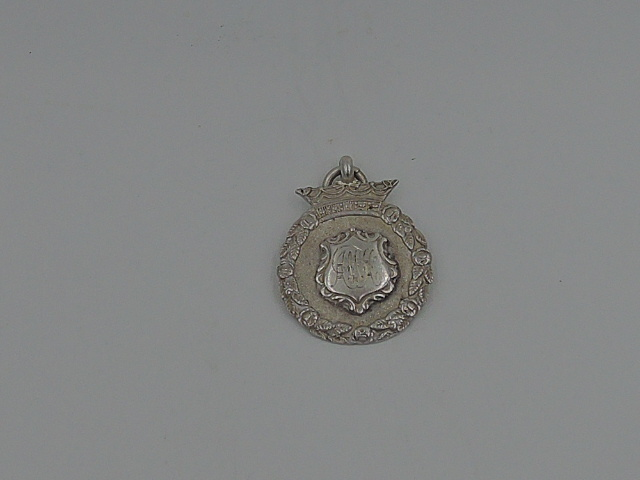 Vintage English Sterling Silver Darts Pocket Watch Fob Hallmark 1939