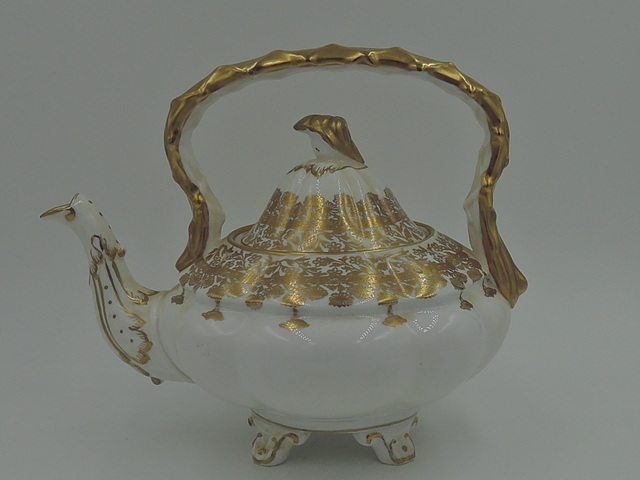 Vintage Royal Stafford Gold Regent Bone China Teapot