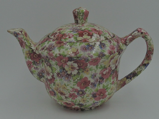 Vintage James Kent Chintz Du Barry Teapot Old Mark
