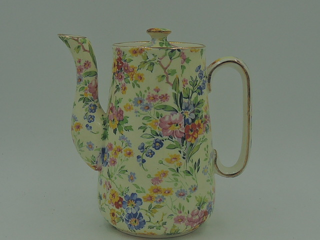 Vintage Royal Winton Chintz Floral Feast Teapot/Coffee Pot Wright Tyndale & van Roden