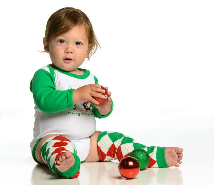 Christmas Green & White Argyle Leg Warmers