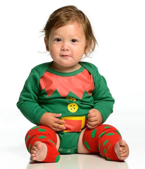 Christmas Red & Green Polka Dot Leg Warmers