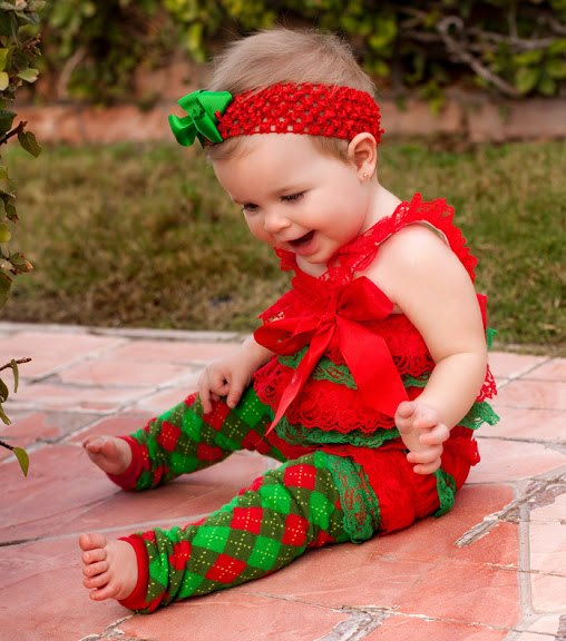 Christmas Red & Green Argyle Leg Warmers