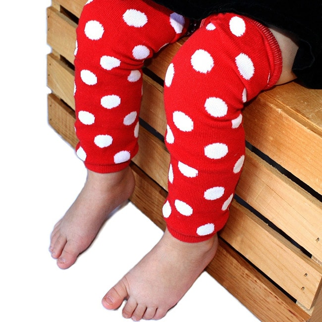 Red with White Polka Dots Leg Warmers