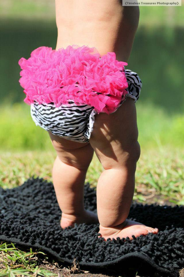 Hot Pink Zebra Cotton Ruffle Bloomers