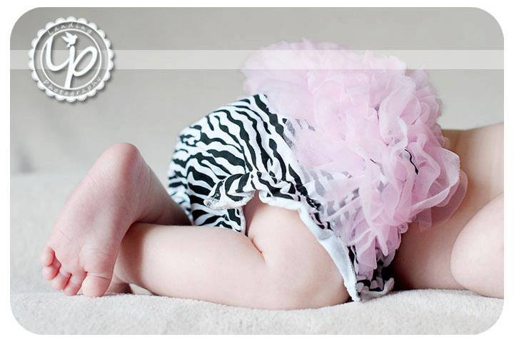Light Pink Zebra Cotton Ruffle Bloomers