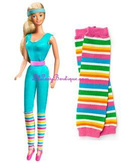 Barbie Striped Leg Warmers