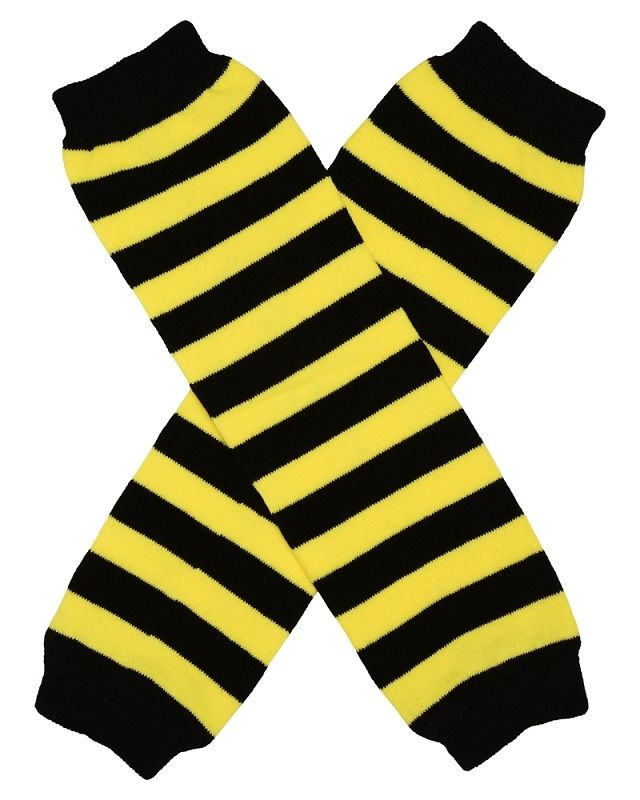 Black & Yellow Bumble Bee Leg Warmers
