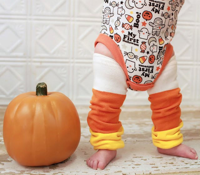 Halloween Color Block Candy Corn Leg Warmers