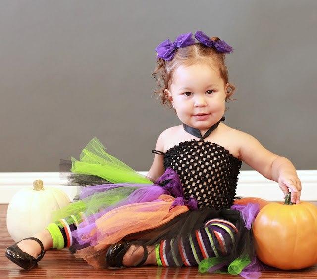 Halloween Skinny Stripe Leg Warmers