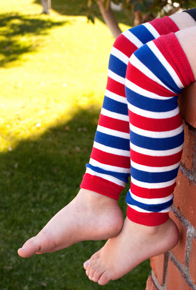 Red White & Blue Leg Warmers