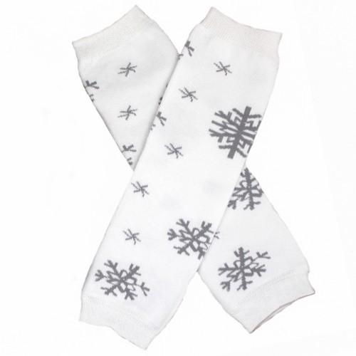 Silver Snowflake Leg Warmers