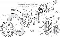 Wilwood Forged Dynalite Rear Drag Brake Kit Drilled Rotor (Mopar/Dana)