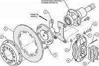 Wilwood Forged Dynalite Rear Drag Brake Kit Drilled Rotor (Olds/Pontiac)