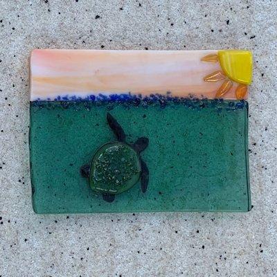 Fused Glass Sunshine Turtle