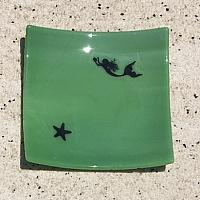Fused Glass Mermaid Dish