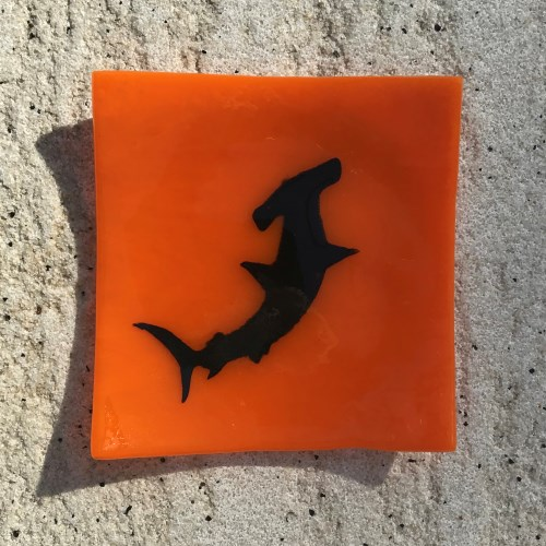 Fused Glass Hammerhead