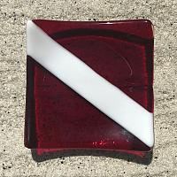 Fused Glass Dive Flag