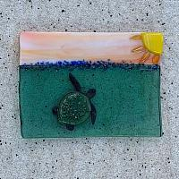 Fused Glass Sunshine Turtle
