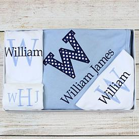 Monogram Baby Gift Set for Boys