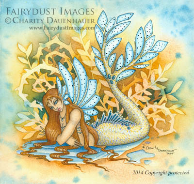 Woodland Tail, Mermaid Art Print