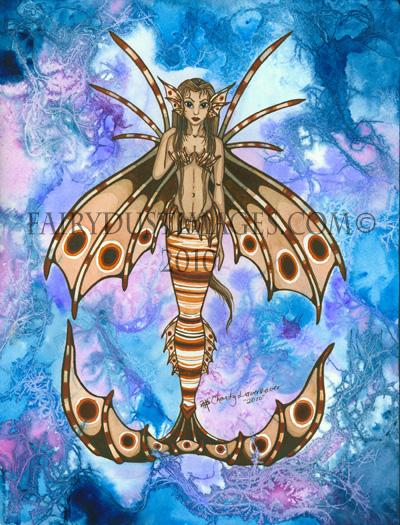 Beautiful Poison, Loinfish Mermaid Art Print
