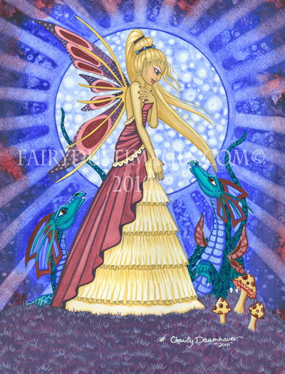 Blue Moon Fairy, Fantasy Art Print