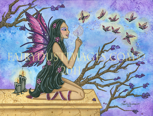 Butterfly Wishes, Fairy Art Print