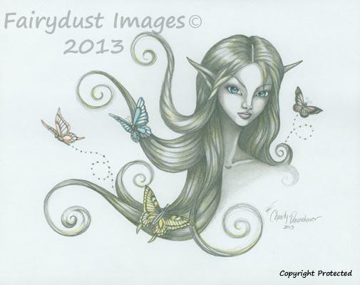 Fluttering Moments, Fairy Elf Art Print
