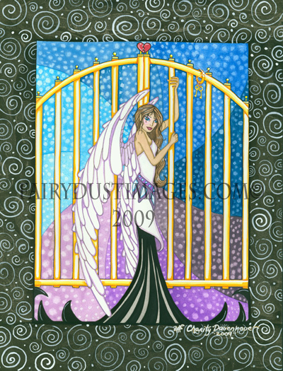 Heaven's Gates, Angel Art Print